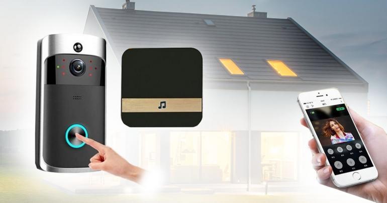 WiFi-dörrklocka med kamera samt ljudenhet på Digdeal.se