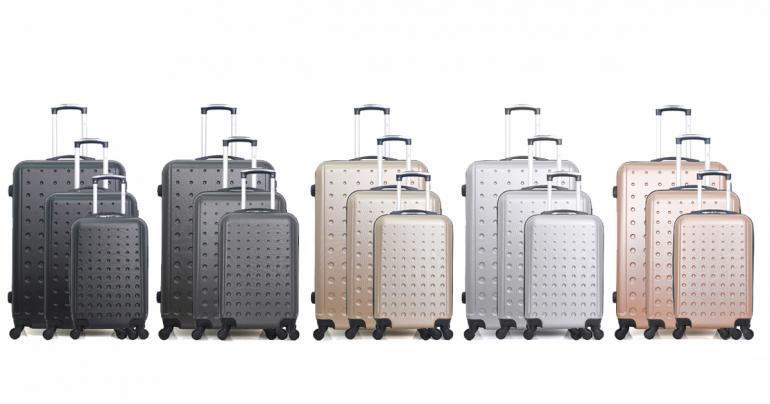 3 st lätta och slagtåliga resväskor i 3 olika storlekar. Välj mellan flera färger. Ord. pris 3999 kr, ditt pris 1299 kr