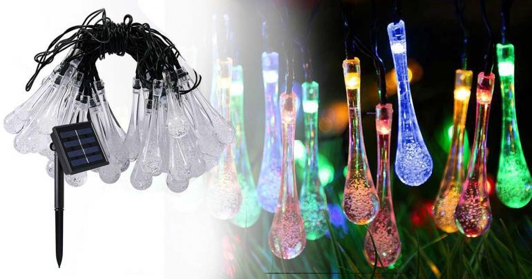 Ljusslinga med droppformade LED lampor på Digdeal.se