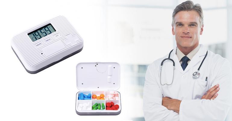 Elektronisk pillerlåda med påminnelse-alarm på Digdeal.se