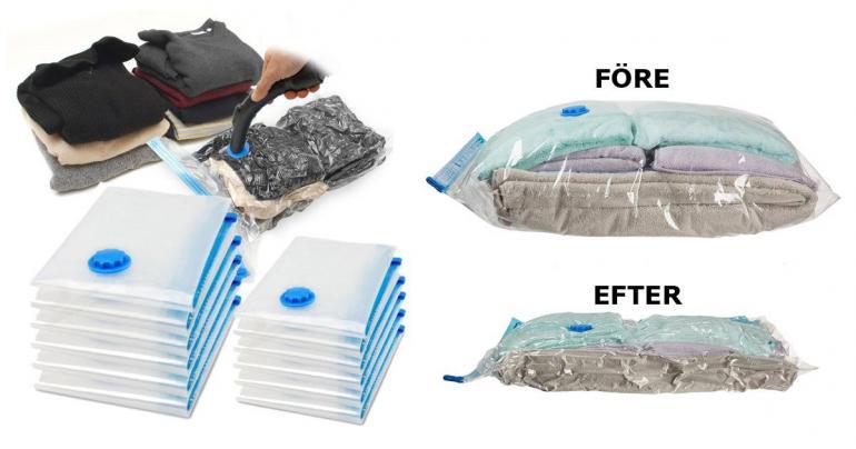 Vakuumpåsar för smart förvaring på Digdeal.se