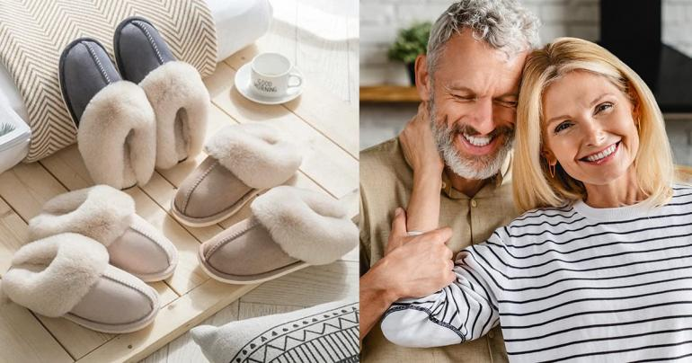 Klassiska tofflor med komfort och som håller fötterna varma på Digdeal.se