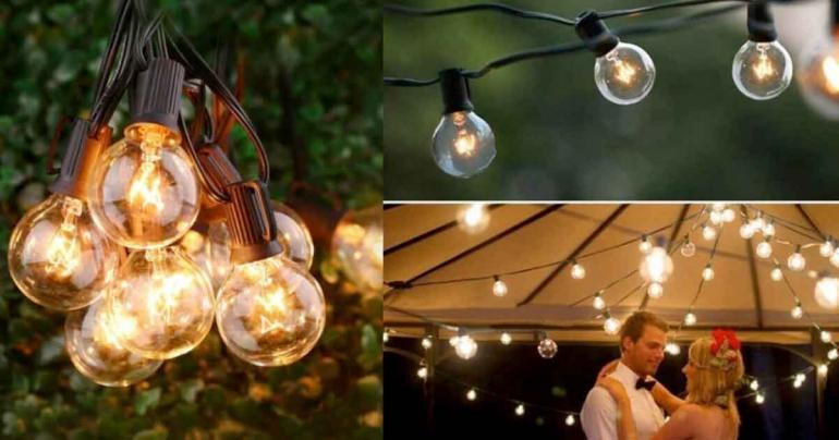 Vattentät ljusslinga 25 lampor på Digdeal.se