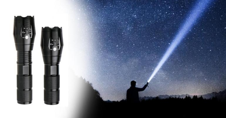 Kraftfull LED ficklampa med starkt ljus på Digdeal.se