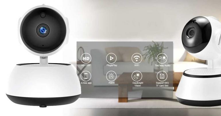 WiFi övervakningskamera med rörelsedetektor och mörkerseende på Digdeal.se