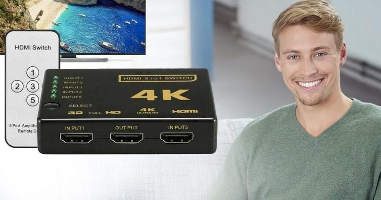 5 till 1 HDMI-switch box 4K på Digdeal.se