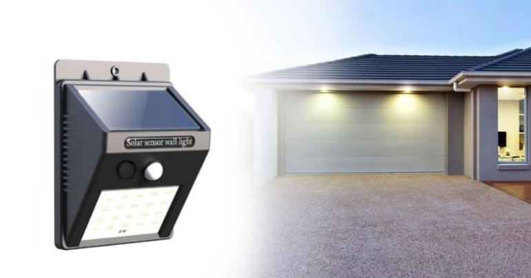 2 st LED-lampor med solceller och rörelsesensor
