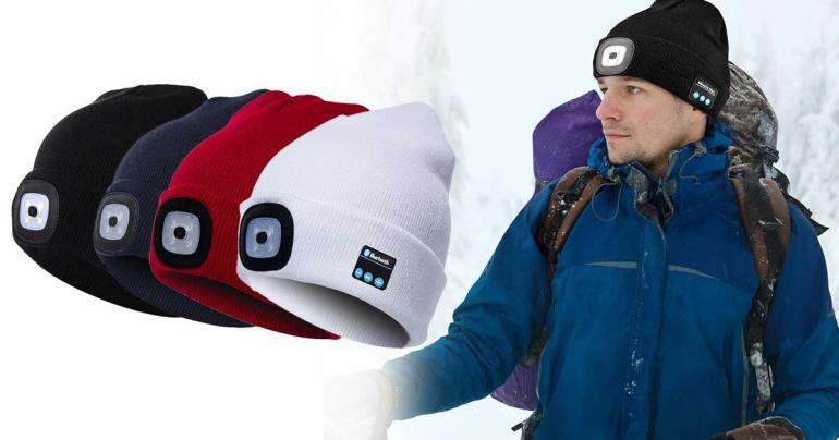 Mössa med LED och bluetooth headset på Digdeal.se