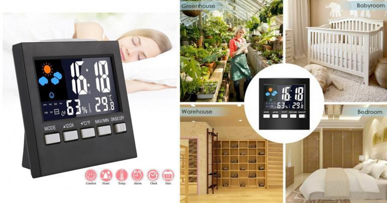 Alarmklocka som ger dig väderinsikt på Digdeal.se