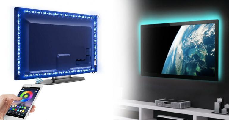 Stämningsfullt ljus till TV med Bluetooth på Digdeal.se