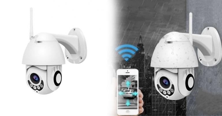 Övervakningskamera med rörelsedetektor och WiFi på Digdeal.se